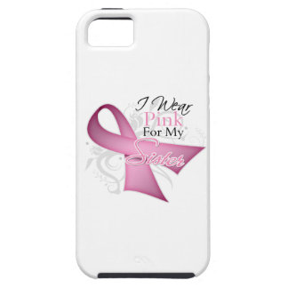 I Wear Pink For My Sister Breast Cancer Awareness iPhone 5 Cover