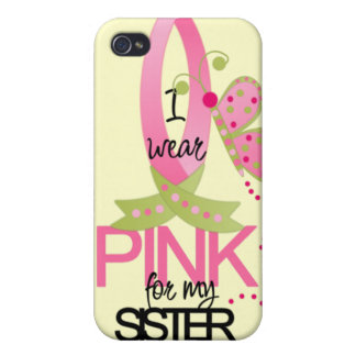 I Wear Pink for my Sister iphone 4 Case