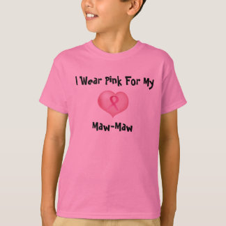 I Wear Pink For My (Your Choice) Child's T-Shirt