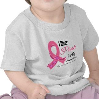 I Wear Pink Ribbon Breast Cancer Grandma Tee Shirt