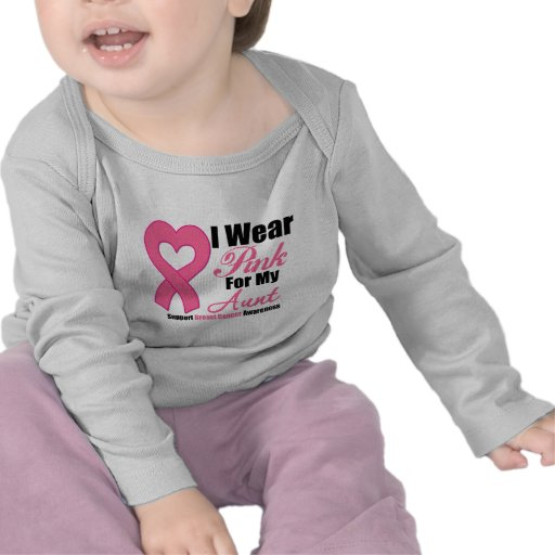 I Wear Pink Ribbon For My Aunt T-shirts