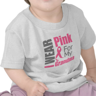 I Wear Pink Ribbon For My Grandma BREAST CANCER Shirts