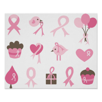 I Wear Pink Ribbon Poster