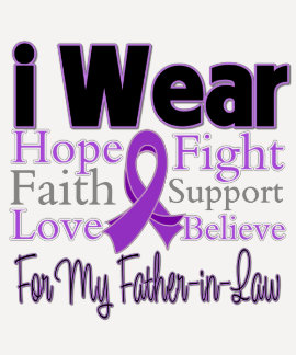 I Wear Purple Father-in-Law - Pancreatic Cancer T-shirts