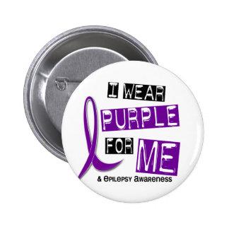 I Wear Purple For Me 37 Epilepsy 2 Inch Round Button