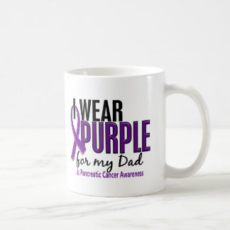 I Wear Purple For My Dad 10 Pancreatic Cancer Coffee Mug