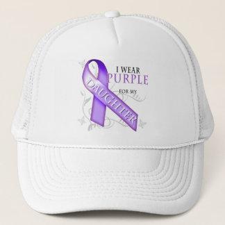 I Wear Purple for my Daughter Trucker Hat