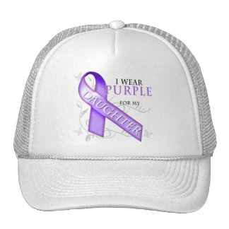 I Wear Purple for my Daughter Trucker Hat