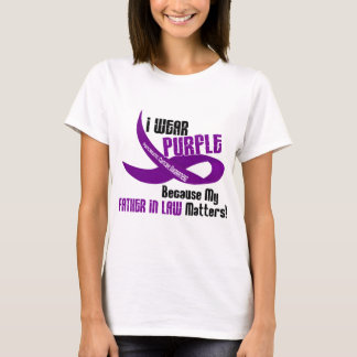 I Wear Purple For My Father-In-Law 33 Apparel T-Shirt