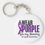 I Wear Purple For My Mommy 10 Lupus Basic Round Button Keychain