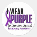 I Wear Purple For Someone Special 10 Epilepsy Round Sticker