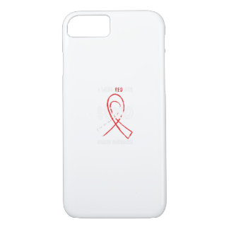 I Wear Red For Blood Cancer Awareness Fighting Case-Mate iPhone Case