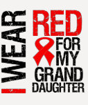 I Wear Red Ribbon For My Granddaughter Tees