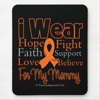 I Wear Ribbon Collage Mommy - Leukemia Mouse Pad