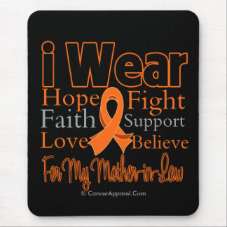 I Wear Ribbon Collage Mother-in-Law - Leukemia Mouse Pad