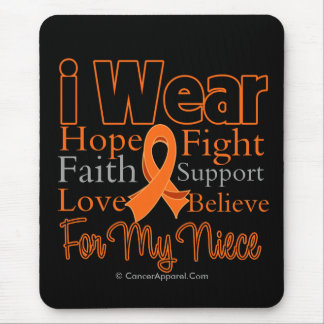 I Wear Ribbon Collage Niece - Leukemia Mouse Pad