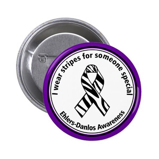 I Wear Stripes for Someone Special EDS Button