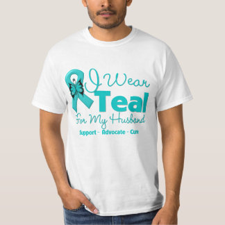 I Wear Teal For My Husband T Shirts