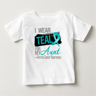 I Wear Teal Ribbon For My Aunt Ovarian Cancer T Shirt