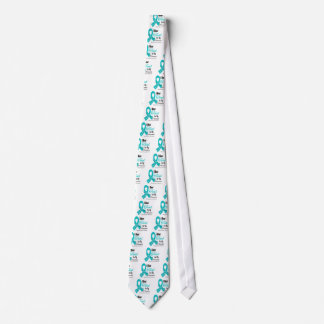 I Wear Teal Ribbon Ovarian Cancer Patients Tie