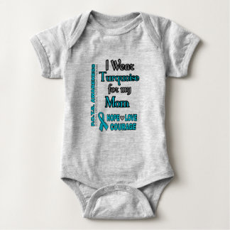 I Wear Turquoise for...Mom Baby Bodysuit