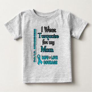 I Wear Turquoise for...Mom Baby T-Shirt