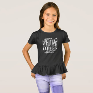 I Wear White For Lungs Cancer Awareness T-Shirt