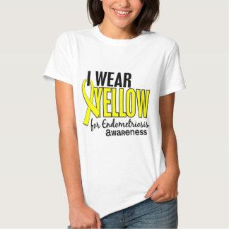 I Wear Yellow For Awareness 10 Endometriosis Tee Shirt