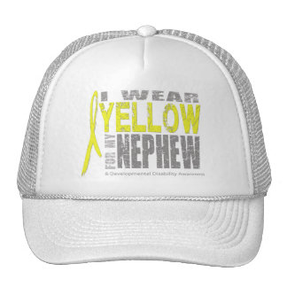 I wear yellow for my nephew trucker hat