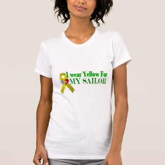 I wear Yellow for My Sailor-Navy Fiance Tshirts