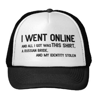 I Went Online Mesh Hats