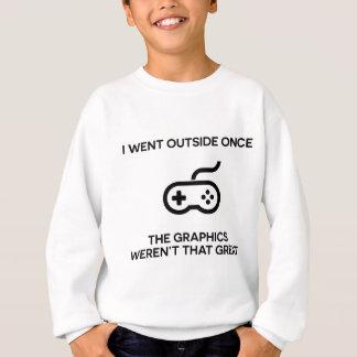 I went outside onceThe graphics weren't that grea Sweatshirt