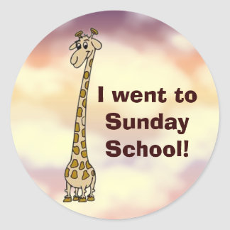 I went to Sunday School Stickers