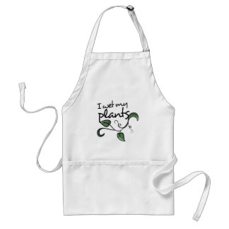 I wet my plants standard apron