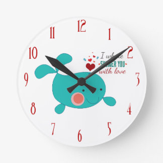I Whale Shower You With Love Wallclocks