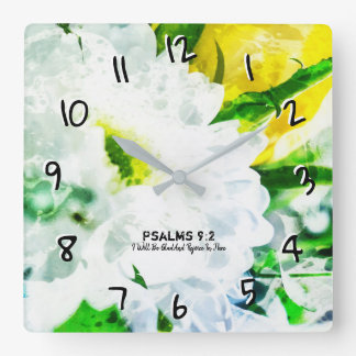 I Will Be Glad And Rejoice In Thee Square Wall Clock