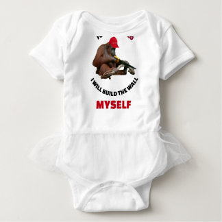 i-will-build-the-wall-myself baby bodysuit