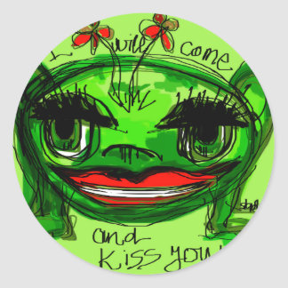 i will come and kiss you round sticker