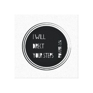 I will direct your steps Proverbs Christian Verse Canvas Print