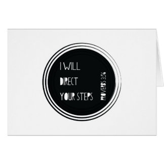 I will direct your steps Proverbs Christian Verse Card