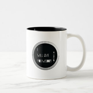 I will give you wisdom Christian Verse Two-Tone Coffee Mug