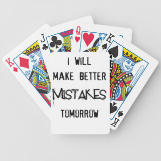 i will make better mistakes tomorrow poker deck