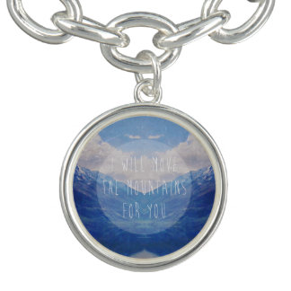 I will move the mountains for you charm bracelet