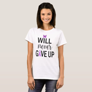 I Will Never Give Up Fibromyalgia Awareness TShirt