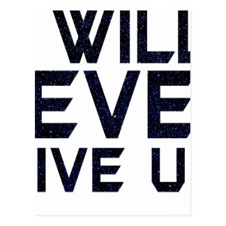 I will never give up postcard