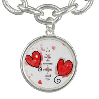 I will never gorget you Charm Bracelet