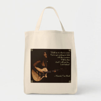 """""""I will not be Left Behind"""" Grocery Tote"""