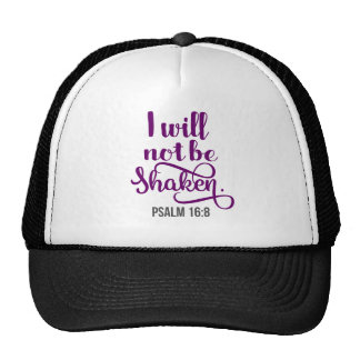 I WILL NOT BE SHAKEN TRUCKER HAT