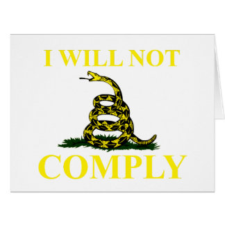 I Will Not Comply Big Greeting Card