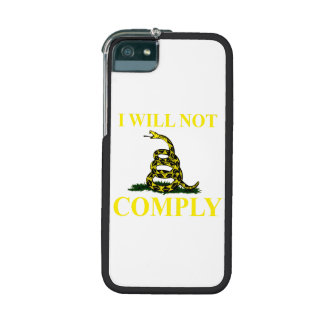 I Will Not Comply Cover For iPhone 5/5S